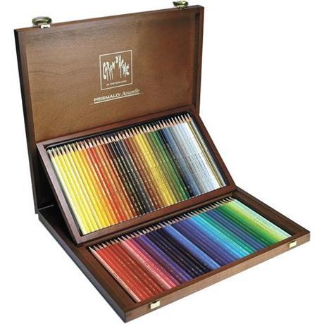 Caran d Ache Wooden Box Of 80 Prismalo Pencils Image 1