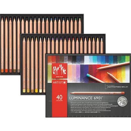 Caran d'Ache Luminance 6901 Set Of 40 Pencils Image 1