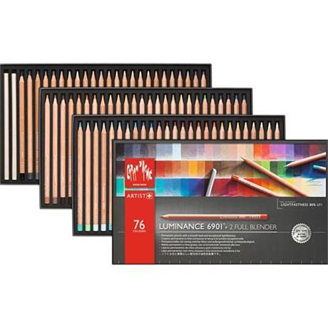 Caran d'Ache Luminance 6901 Set Of 76 Pencils & 2 Blenders Image 1