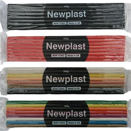 Newplast Non Drying Modelling Clay 500g Blocks Image 1