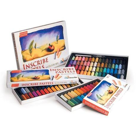 Inscribe Soft Pastel Set - 64 Colours - Half Sticks Image 1