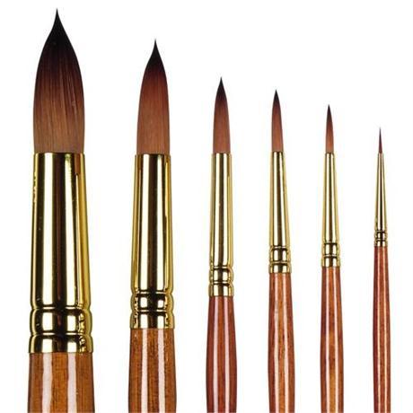 Pro Arte Series 007 Prolene Plus Brushes - Round Image 1
