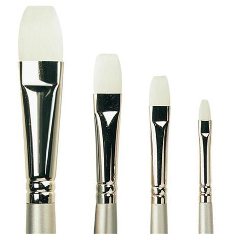 Pro Arte Series 201 Sterling Acrylix Brushes - Short Flat Image 1