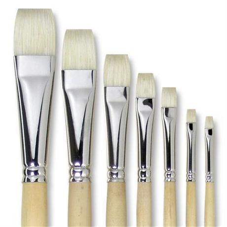 Pullingers Artists Value Super-Hog Brush Short Flat Image 1