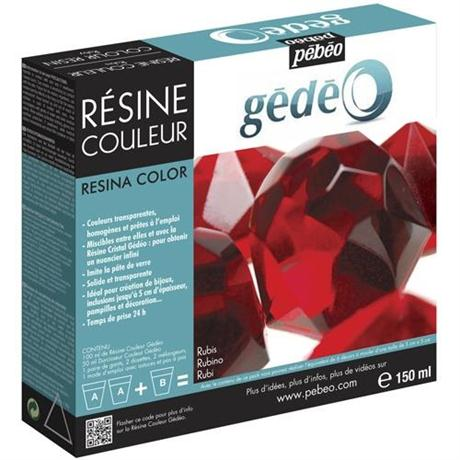 Gedeo Colour Resin 150ml RUBY RED Image 1
