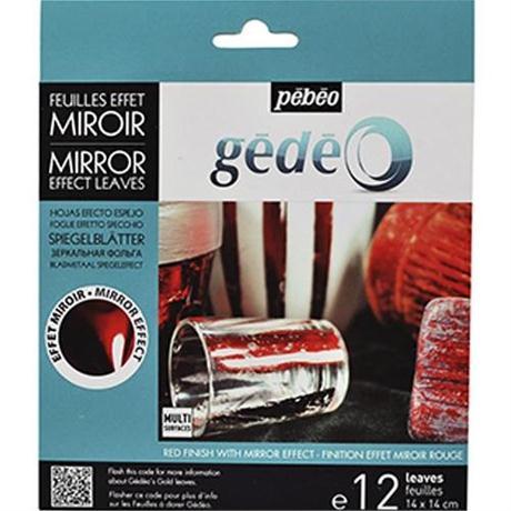 Gedeo Mirror Effect Metal Leaf - RED Image 1