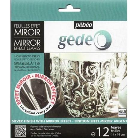Gedeo Mirror Effect Metal Leaf - SILVER Image 1