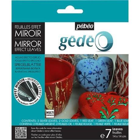 Gedeo Mirror Effect Leaf - Assorted Image 1