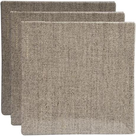 Pebeo Natural Linen Canvas Boards 10 x 10cm SET OF 3 Image 1