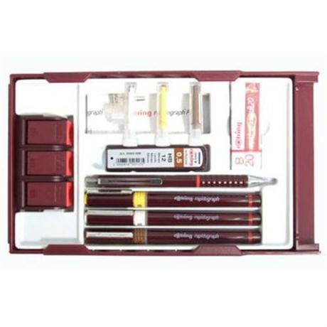 Rotring Rapidograph College Set .25/.35/.5 Image 1