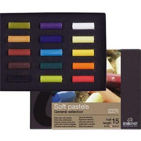 Rembrandt 15 Half Pastels Starter Set Image 1