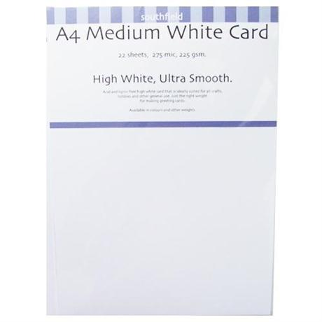 225gsm Medium White Card Packs Image 1