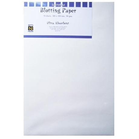 285 x 420mm White Blotting Paper Pack Of 10 Sheets Image 1