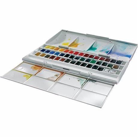 Cotman Watercolour 45 Half Pan Studio Set Image 1
