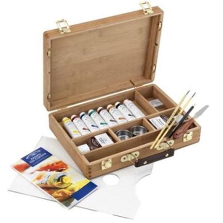 Winsor & Newton Artists Oil Paint Bamboo Box Set Image 1