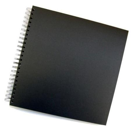 Seawhite Black Card Spiral Sketch Book 300 x 300mm Square Image 1