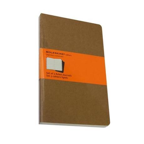 Moleskine Ruled Cahier Large - Kraft (Set of 3) Journal Notebook Image 1