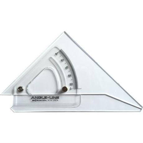 250mm Angle-Line Adjustable Set Square with Inking Edge Image 1