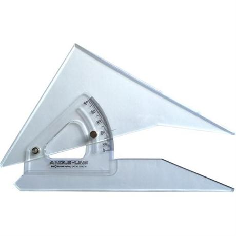 300mm Angle-Line Adjustable Set Square with Inking Edge Image 1