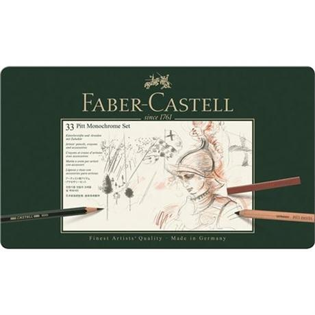 Faber Castell Pitt Monochrome Set of 33 items Image 1