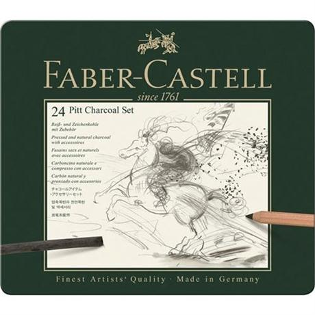 Faber Castell Pitt Charcoal Set of 24 items Image 1