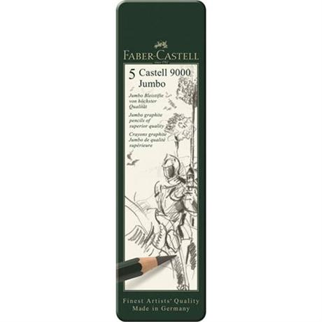 Castell 9000 Jumbo Pencil Tin of 5 Image 1