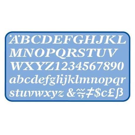 Helix Italic Stencil 20mm Image 1