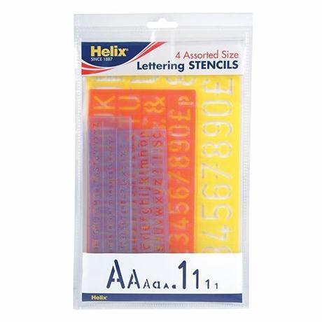 Helix 4 Piece Stencil Set Image 1