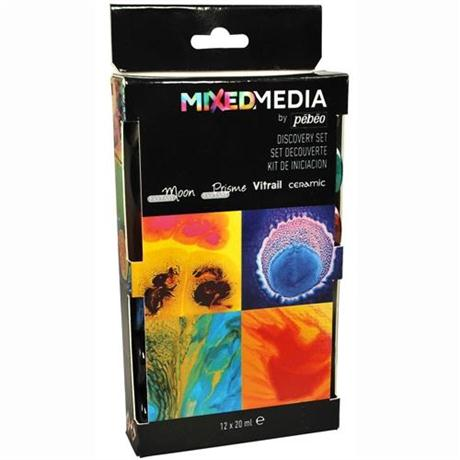 Pebeo Mixed Media Discovery Set 12x20ml Image 1