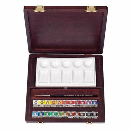 Rembrandt Traditional Water Colour Box - Half Pans Image 1
