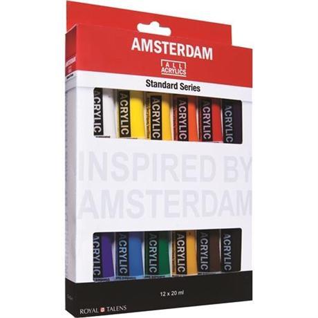 Amsterdam All Acrylic Standard Set 12x20ml Image 1