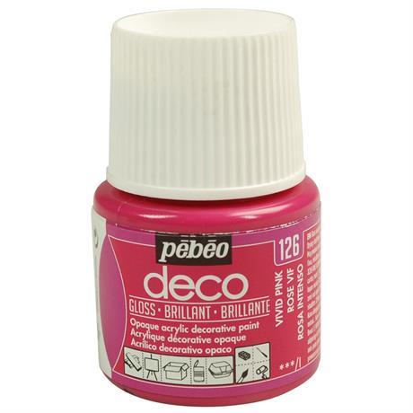 Pebeo Deco Acrylic Paints 45ml - Gloss Colours Image 1