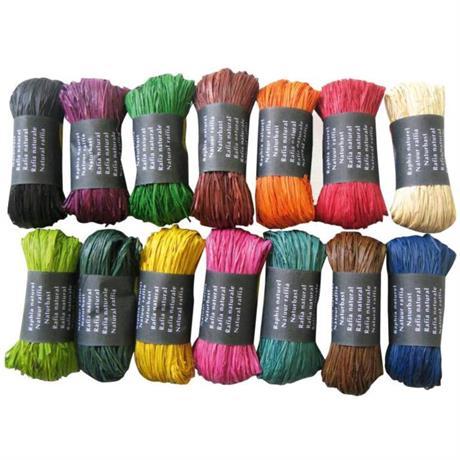 Coloured Natural Raffia 50g Ball Image 1