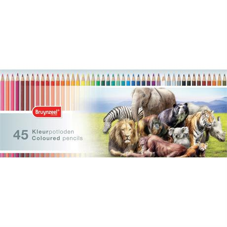 Bruynzeel Wild Animals 45 Coloured Pencil Set Image 1