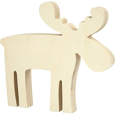 Wooden Moose Image 1