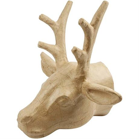 Papier-Mache Trophy Deer Head