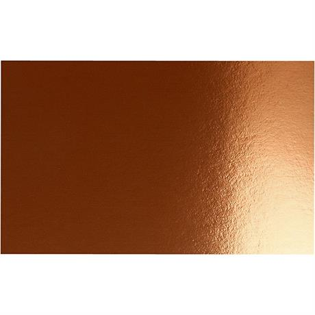 Double-sided Metallic Foil Card A4 Copper Pack of 10 280gsm Image 1