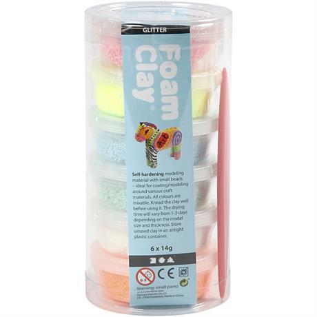 Foam Clay 14g x 6 Glitter Assortment