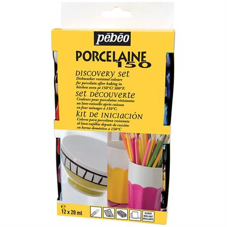 Pebeo Porcelaine 150 Discovery Set 12 x 20ml Image 1