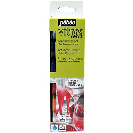 Pebeo Vitrea 160 Frosted Discovery Set 6 x 20ml Image 1