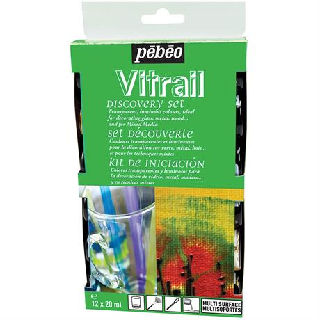 Pebeo Vitrail Discovery Set 12 x 20ml Image 1