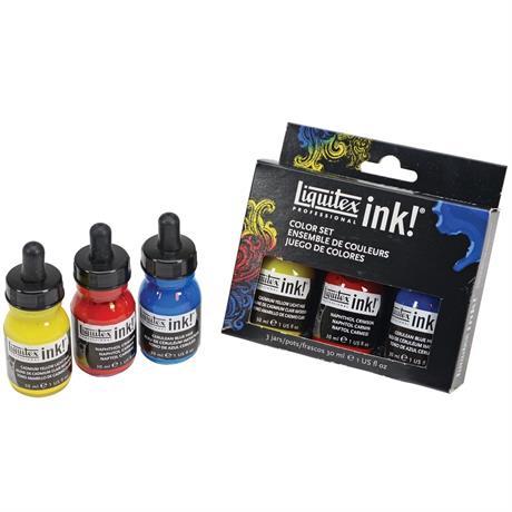 Liquitex Acrylic Ink Colour Set 3 x 30ml Image 1