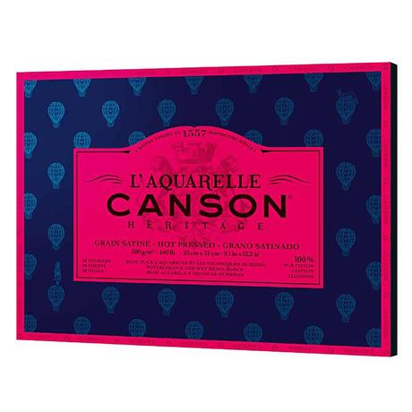 Canson Heritage Watercolour Pads Hot Pressed 140lbs Image 1