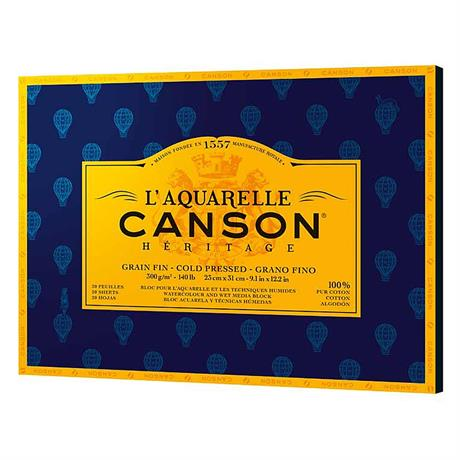 Canson Heritage Watercolour Pads Cold Pressed (NOT) 140lbs Image 1