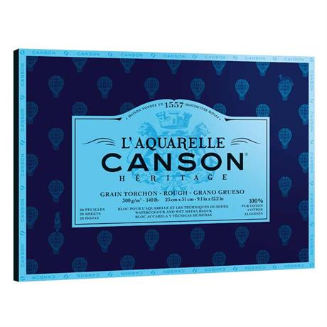 Canson Heritage Watercolour Pads Rough 140lbs Image 1