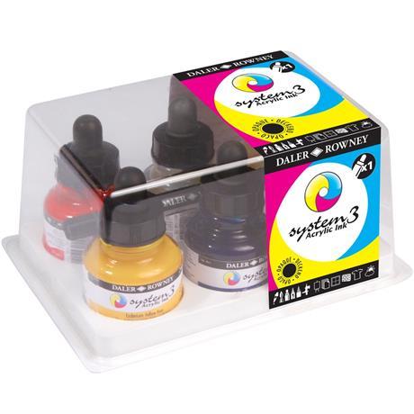 System 3 Acrylic Ink Introduction Set Image 1