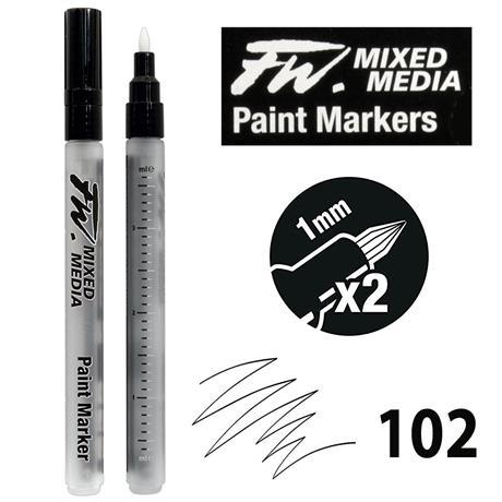 FW Mixed Media Paint Marker Set 1mm Hard Point 102 Image 1