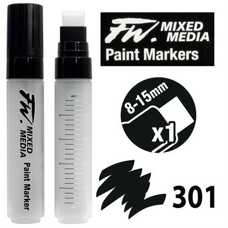 FW Mixed Media Paint Marker Set 8-15mm Flat Nib 301 Image 1