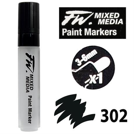FW Mixed Media Paint Marker Set 3-6mm Round Nib 302 Image 1