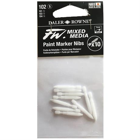 FW Mixed Media Paint Marker Nibs 1mm Hard x 10 Image 1